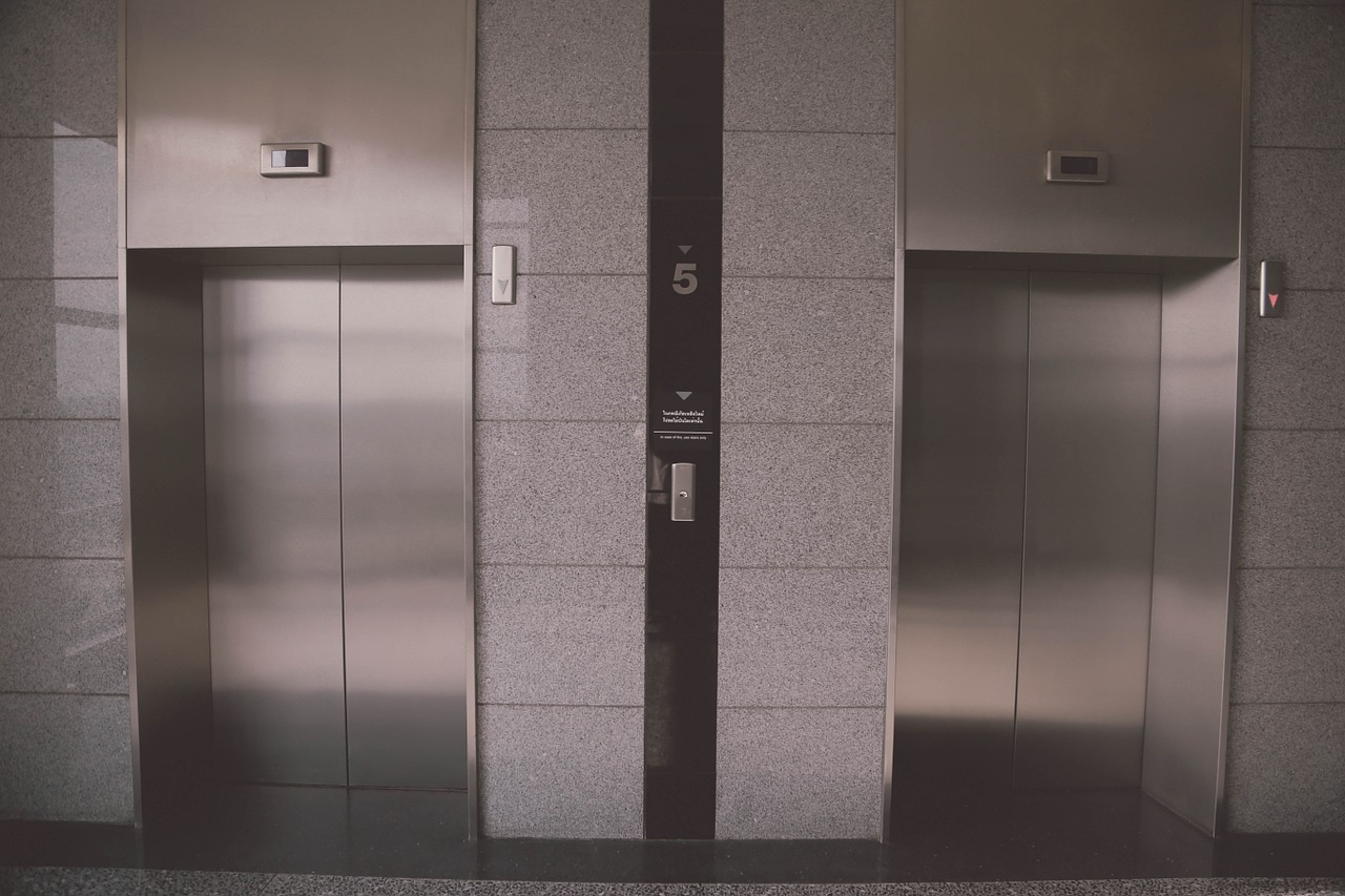 Doors to two lifts