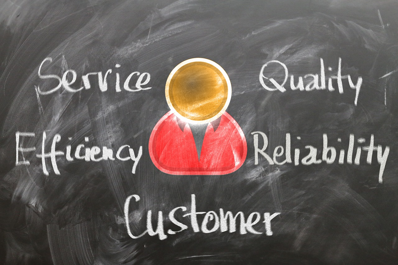 Customer: service, quality, efficiency, reliability